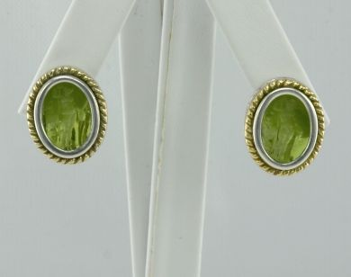 925 Sterling Silver & 18K Gold Earrings