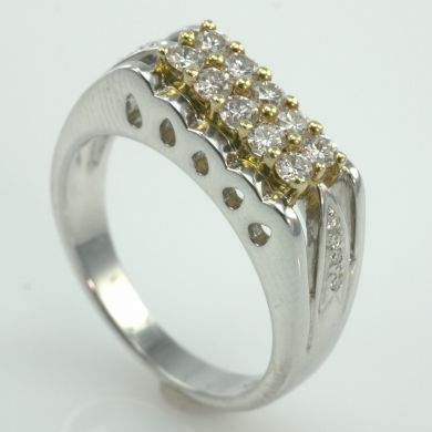 1/2 Carat Diamond 14K Gold Wedding Anniversary Ring
