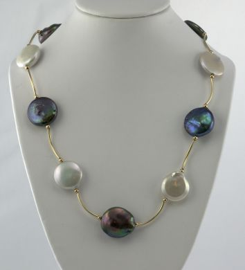 Coin Freshwater Pearl Necklace