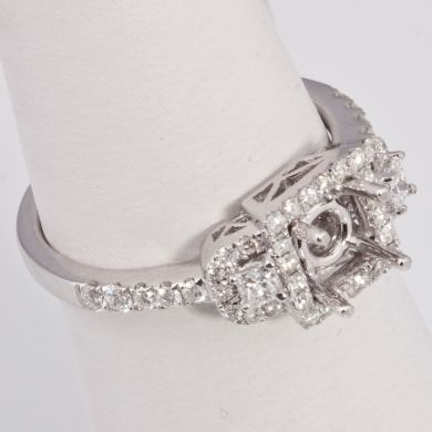 1/2 Ct Diamond Engagement Semi Mount Gold Ring Setting